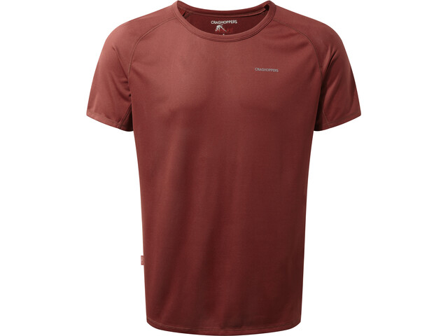 Craghoppers NosiLife Short Sleeve Baselayer Shirt Men red earth